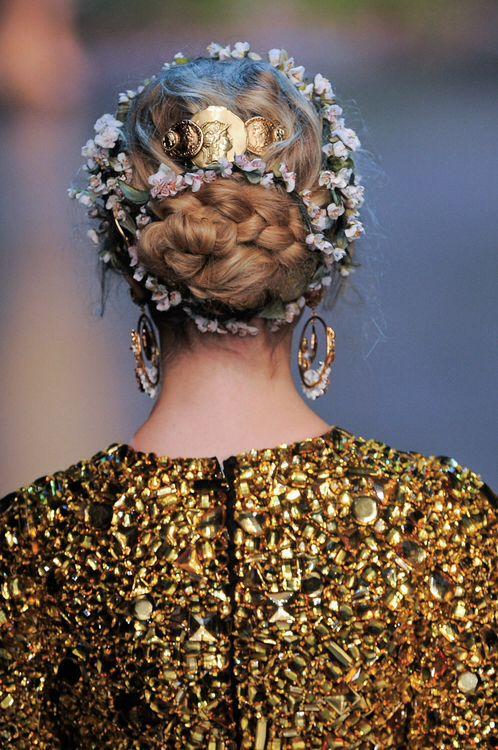 Hair at Dolce & Gabbana Spring Summer 2014 | MFW