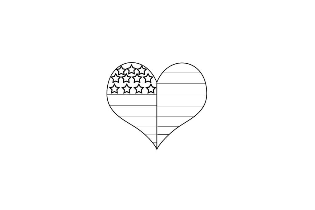 Heart Shaped American Flag Coloring Page Flag Coloring Pages American Flag Coloring Page American Flag Colors