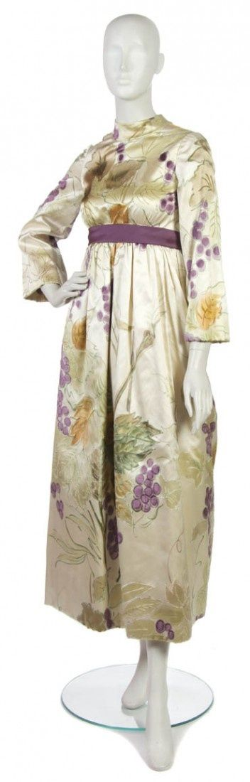 22: A George Halley Cream Floral Silk Evening Gown#Skincare #Skin #ClearSkin #AntiAging #Collagen #HealthySkin #FaceMask #SkincareTips #SkinCareJunkie #SkincareJunkie #SkinTreatment #SkincareTips #SkincareRoutine #Acne #FaceCare #facecare
