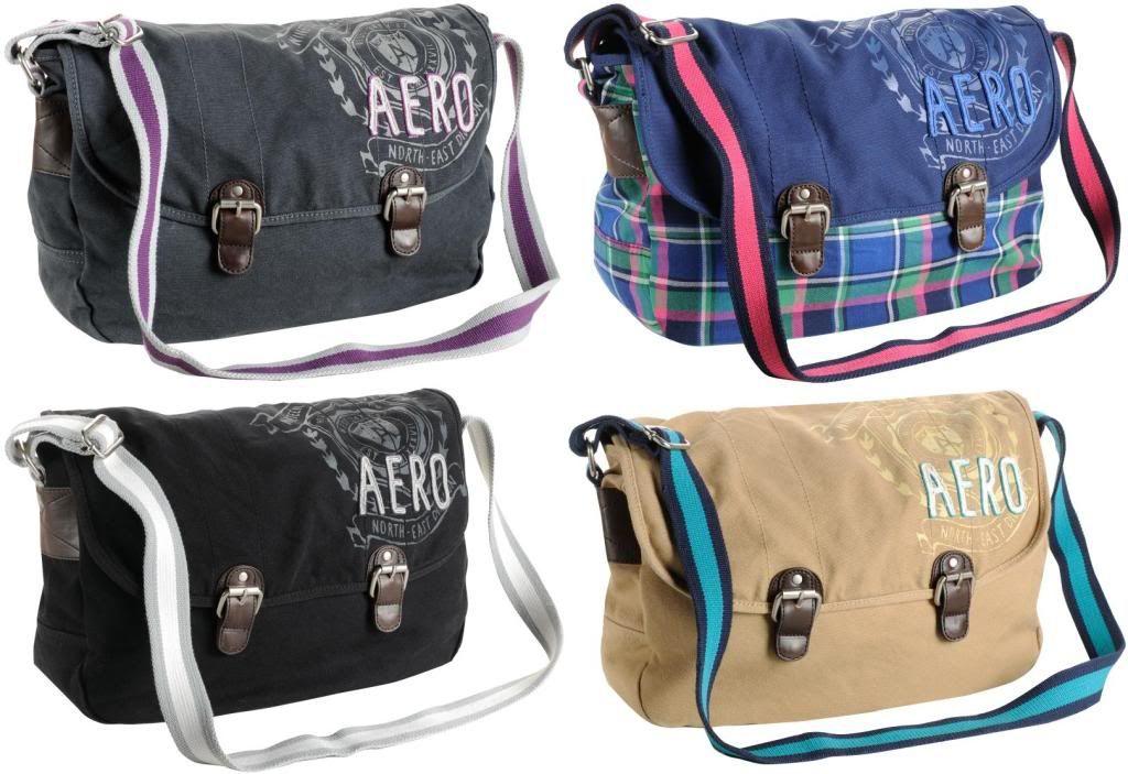 AEROPOSTALE AERO Messenger Shoulder Bag Canvas School Books Laptop Purse Tote