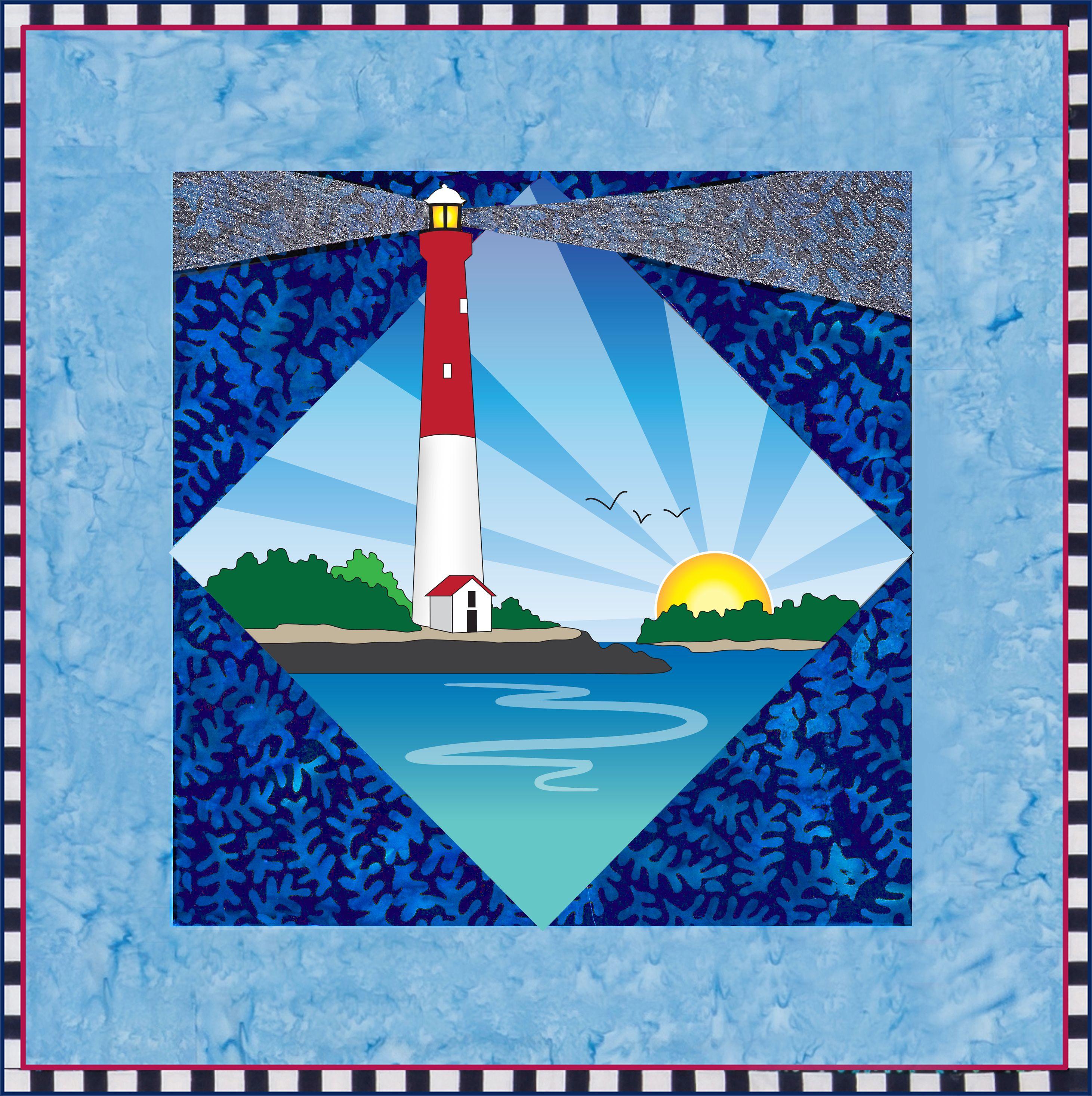 Barnagat Lighthouse Quilt Pattern By Debra Gabel Of Zebra Patterns