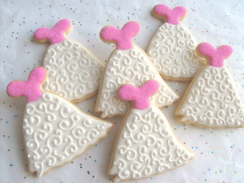 Wedding Gown Cookie Favors Dress Decorated Cookies by lorisplace ...