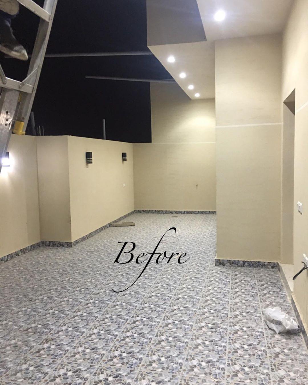 حديقة سطح قبل وبعد تصميم وتنفيذ عبدالله الجاسر Flooring Tile Floor Crafts