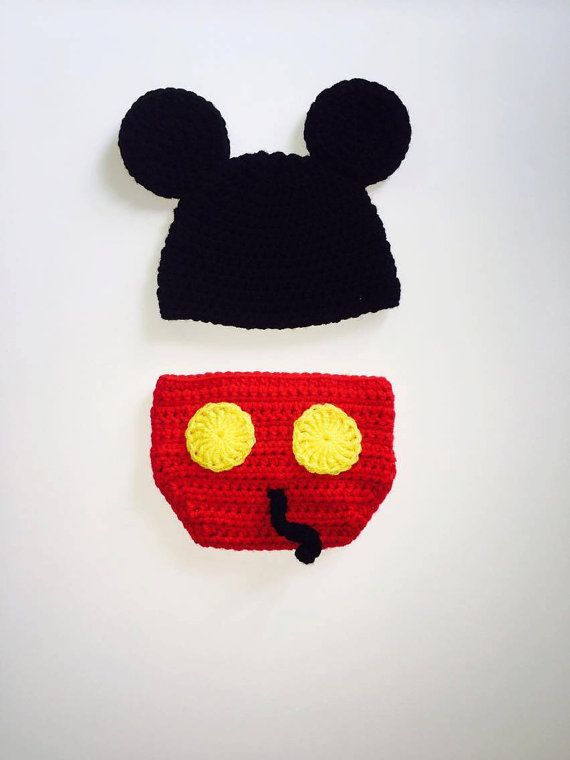 Crochet Mickey Mouse, Crochet Baby Set, Mickey Mouse Baby Set ...