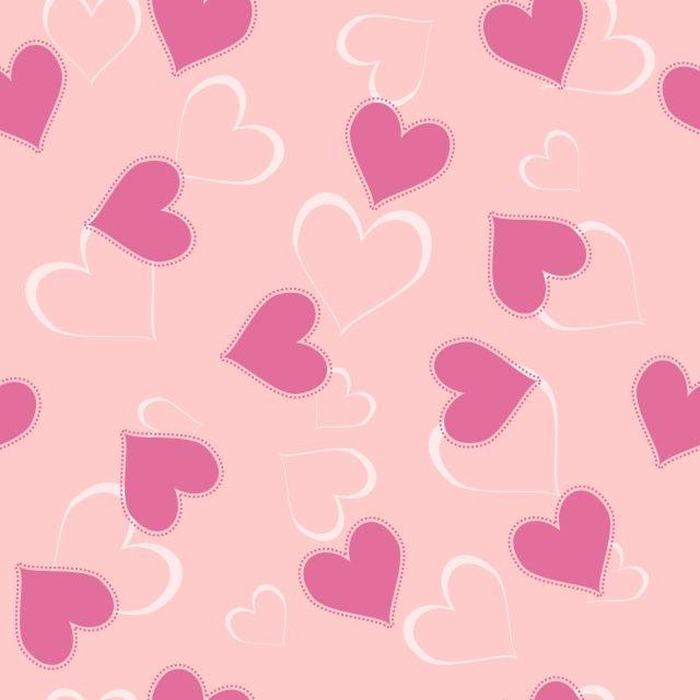 Valentine Heart Simple Seamless Pattern Soft Pink Design