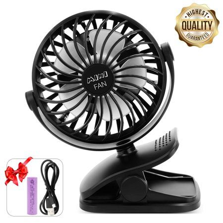 Battery Operated Clip on USB Rechargeable Fan Mini Fan with 360 Degree Rotation~