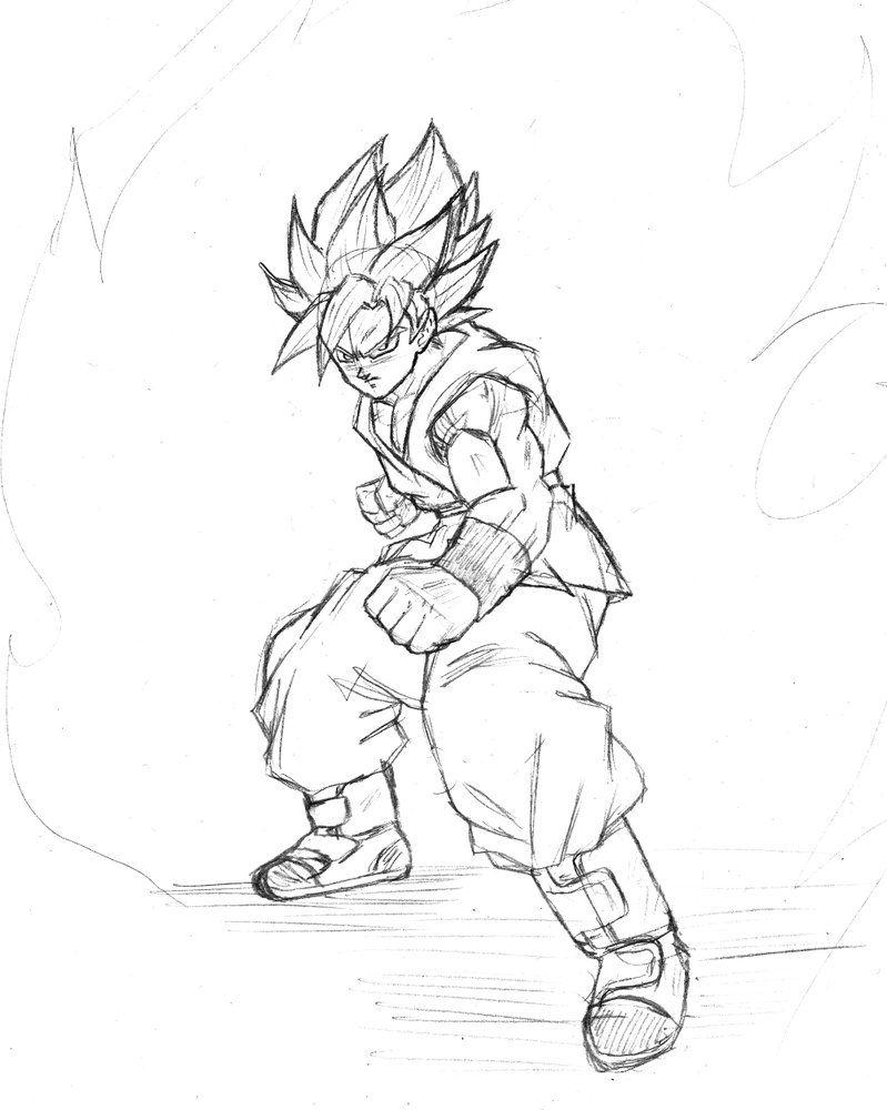 Super Saiyan Blue Goku sketch by BL-Sama   yo   Pinterest   Goku ...