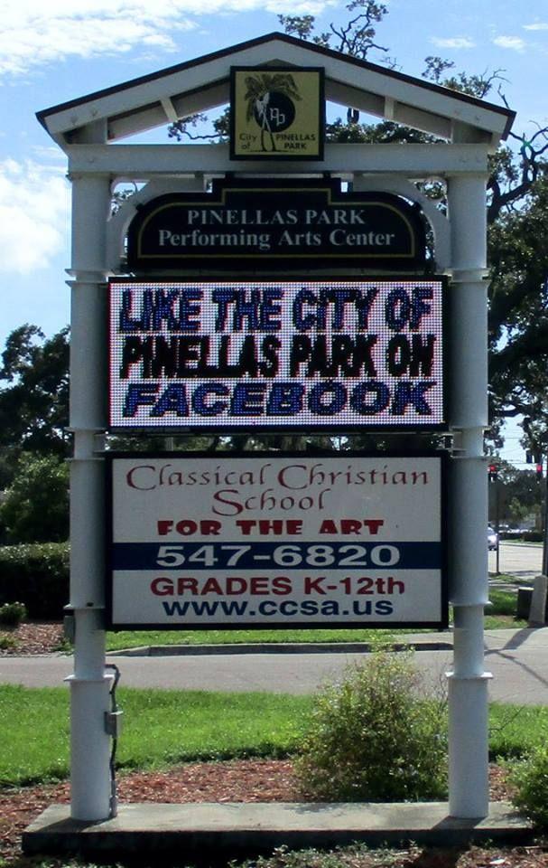 Full Color Led Sign City Of Pinellas Park Fl Outdoor Led Signs Led Signs Business Signs