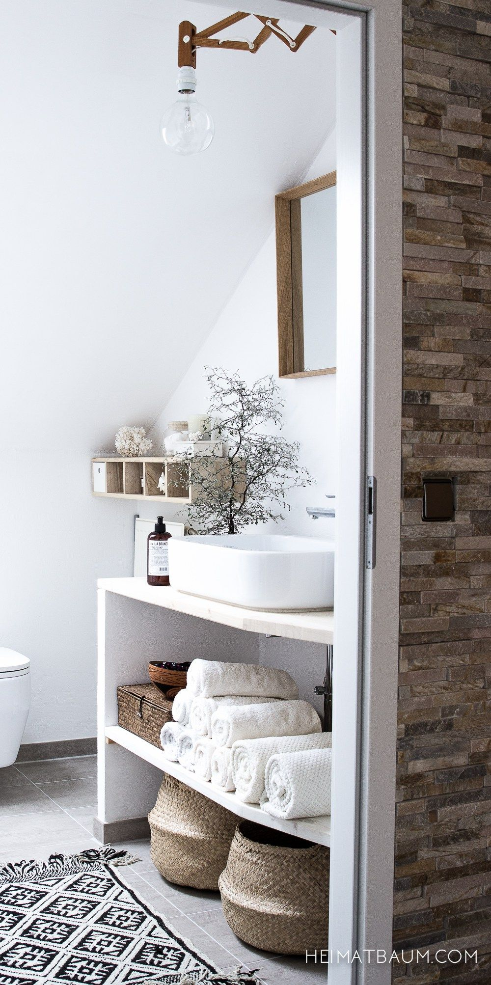 badezimmer {alles neu} (heimatbaum) | sinks, towels and shelves, Badezimmer ideen