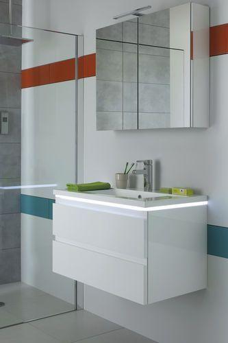 cool Idée décoration Salle de bain - Meuble vasque suspendu / en