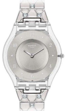 Swatch Women's Skin SFK368G Silver Stainless-Steel Watch with Silver Dial: Watches: Amazon.com