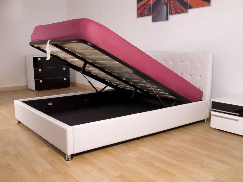 cama con canap modelo alpes disponible en color blanco o negro super