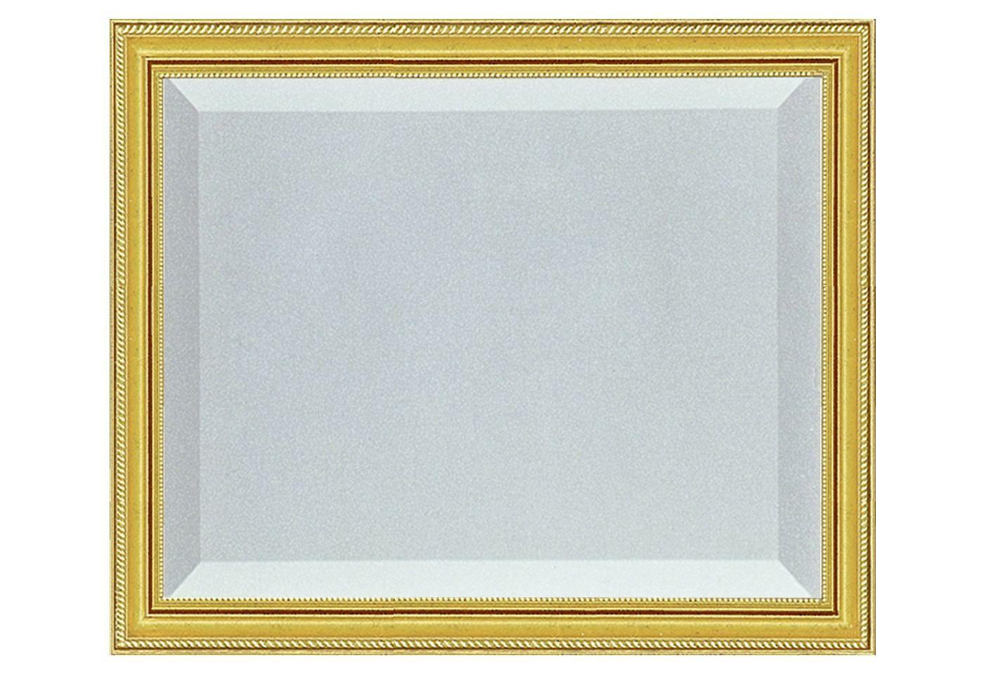 Spieglein, Spieglein an der Wand….  … dieses Glanzstück ist das Schönste im ganzen Land!  Der Spiegel mit Facette ist in einer goldfarbenen Leiste gerahmt und ist ein dekorativer und zugleich praktischer Klassiker für Ihr Zuhause.  Größe: 49,6/59,6 cm. Farbe: gold....