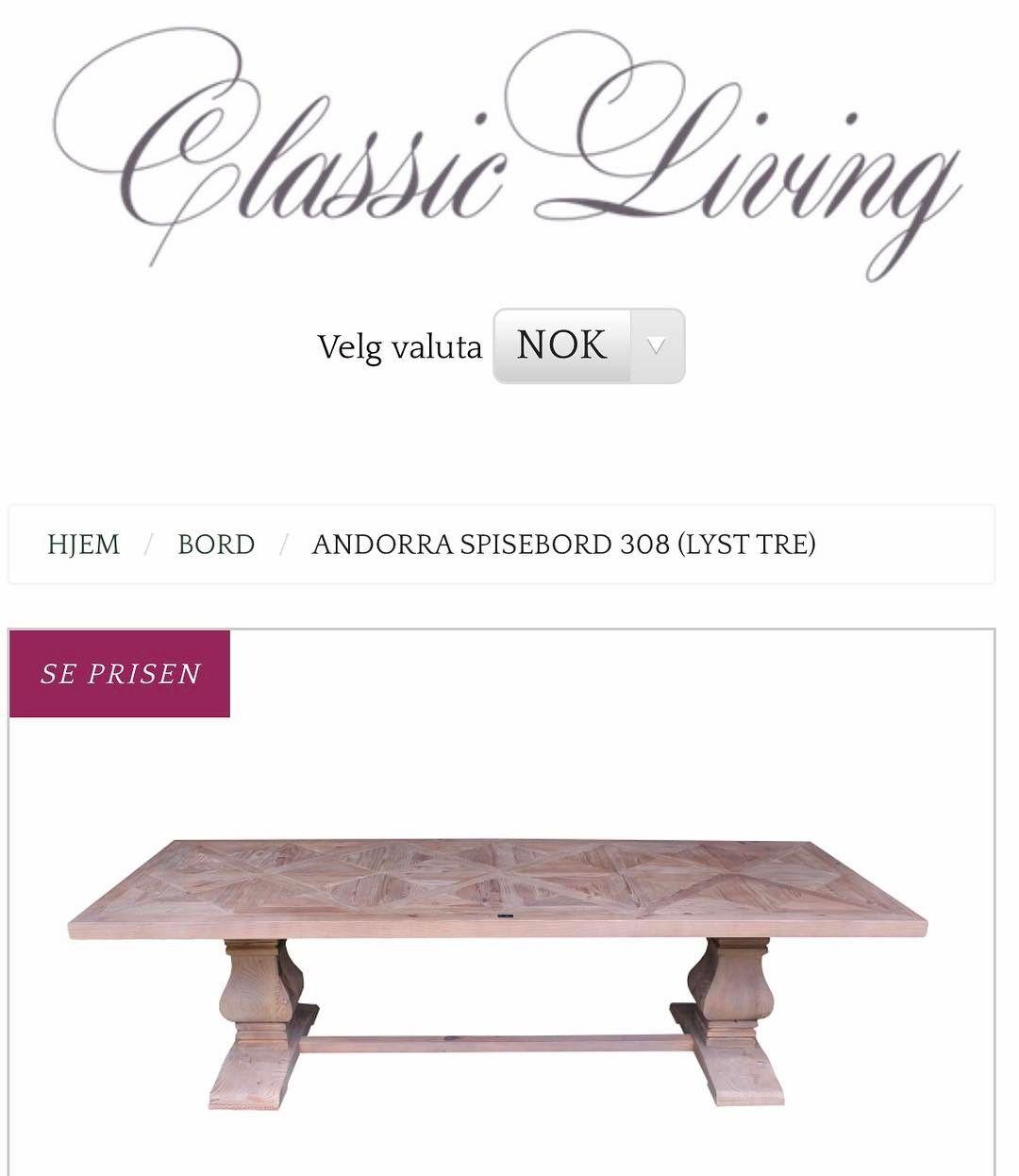 Massivt og kraftig langbord med nydelig konvoluttmønstret bordplate. Understellet er av bjørk. Spisebordet er hele 305 cm langt. Dette tøffe spisebordet er like lekkert hjemme som på hytta.