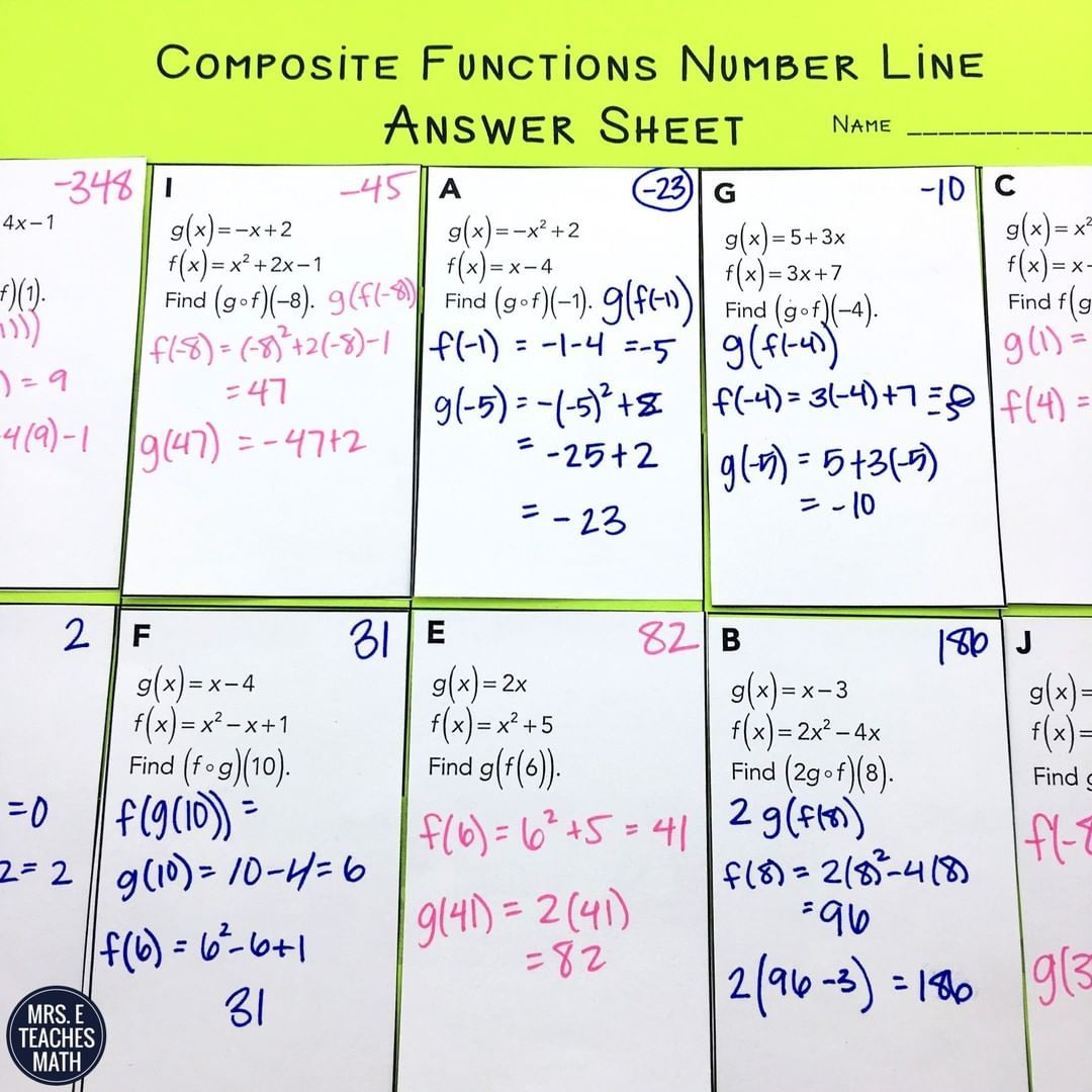 Mrseteachesmath Posted To Instagram Composite Functions