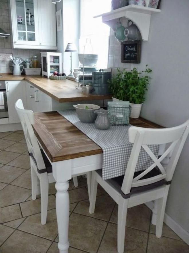 an attractive little farmhouse kitchen table in 2020
