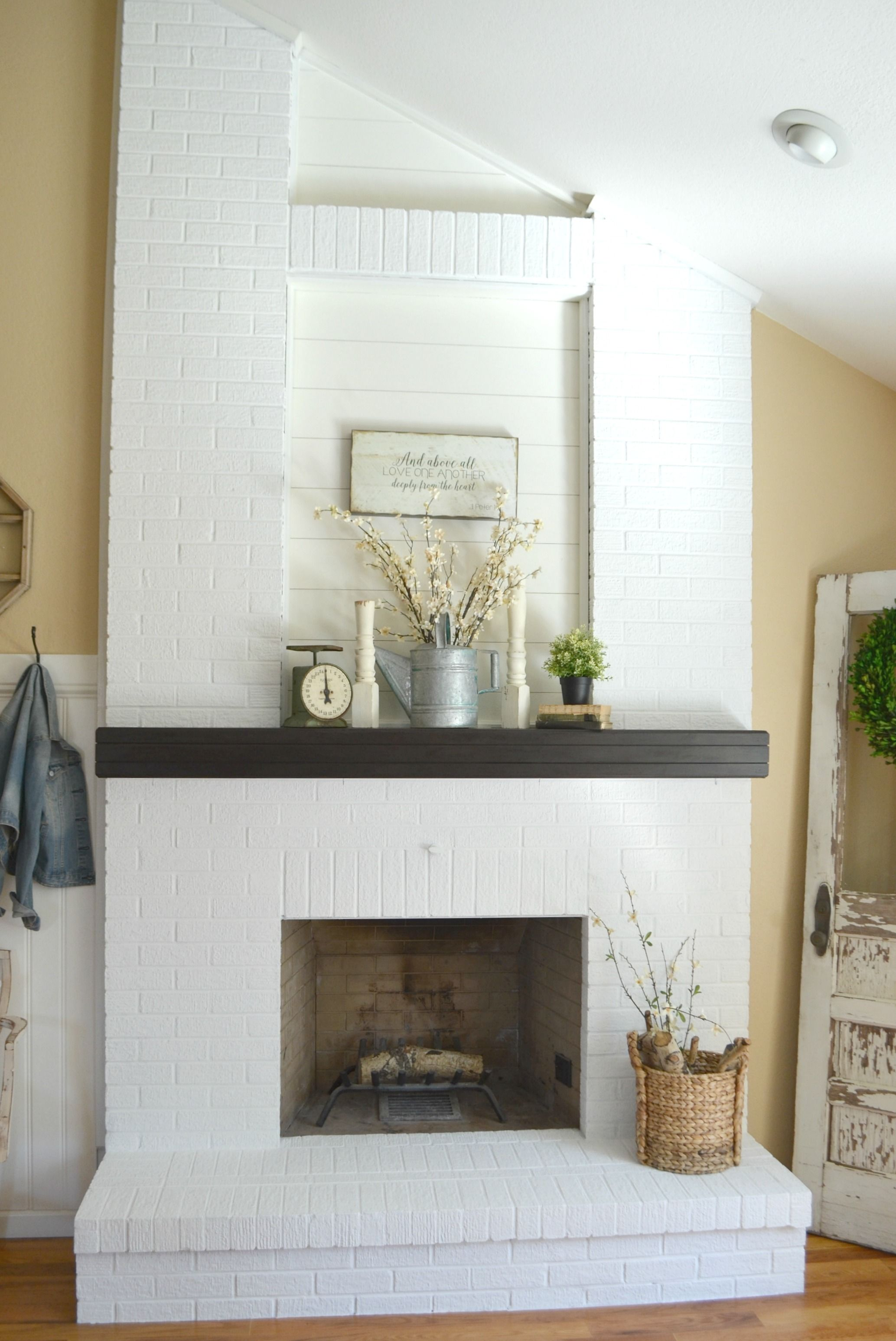How to Paint a Brick Fireplace | Brick fireplace, Bricks and Living ...