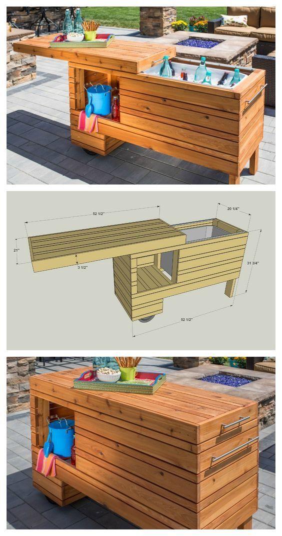 outdoor bar and cooler wood working pinterest g rten outdoor k che und m bel. Black Bedroom Furniture Sets. Home Design Ideas