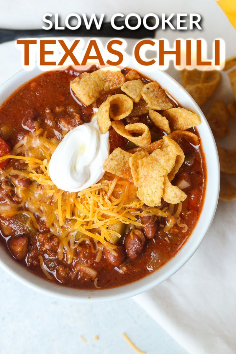 Slow Cooker Texas Chili Recipe