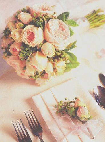 pretty pink ranunculus bouquet by orawrat, via Flickr