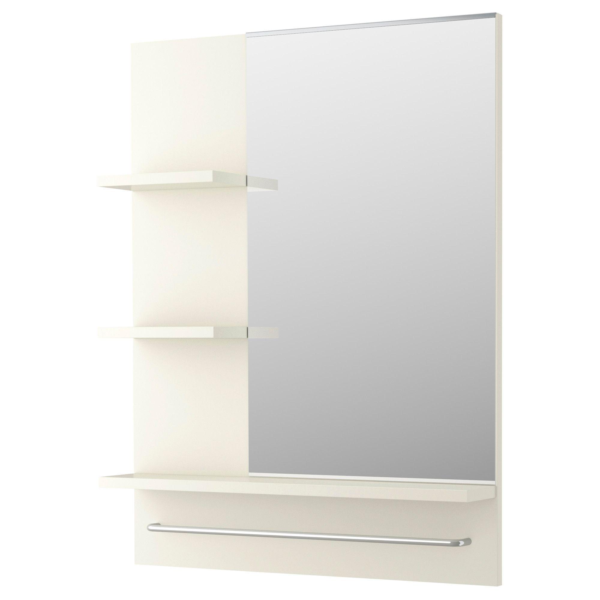 Lill ngen mirror white bath wall mirrors entryway - Illuminated bathroom mirrors ikea ...
