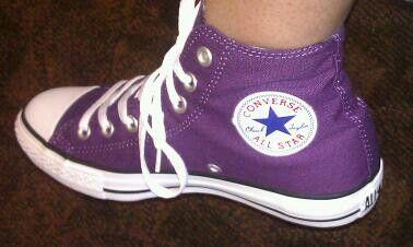 Purple converse...my favourite!
