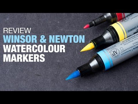 Painting a Purple Tulip with watercolour markers - Aquamarker tutorial - YouTube