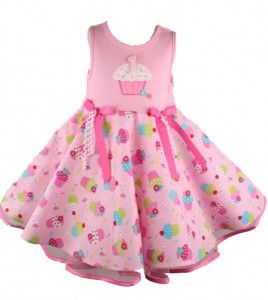 ba218685e rare-editions-girls-cupcake-print-pink-baby-birthday-dress