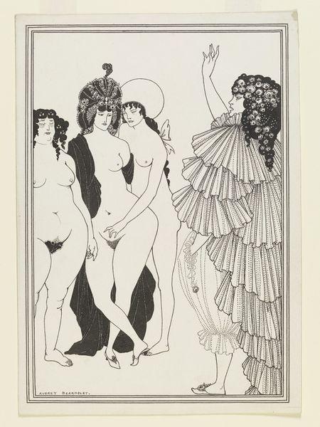 Lysistrata Haranguing the Athenian Women; Lysistrata | Beardsley, Aubrey Vincent | V&A Search the Collections