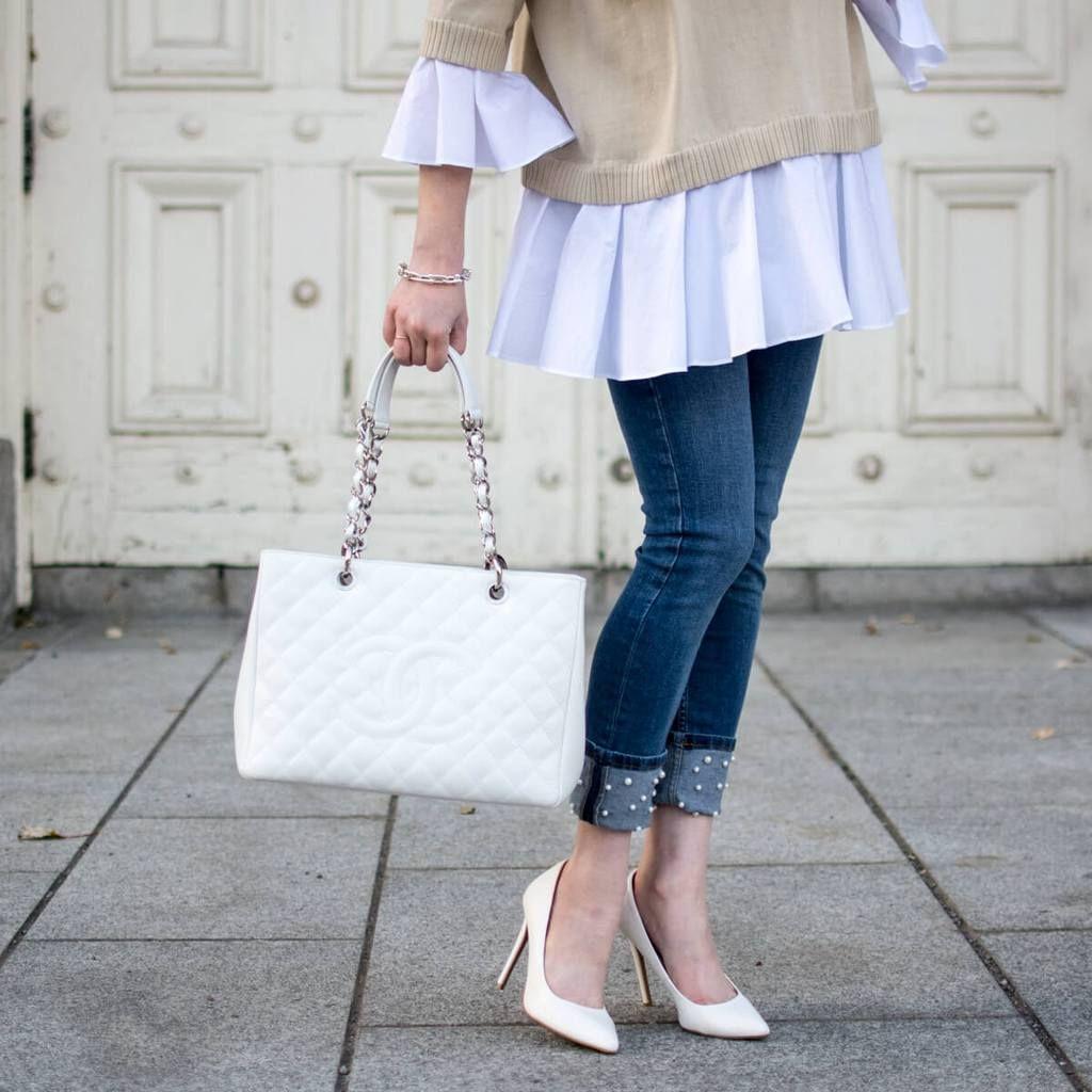 1c4684567b820 Chanel White Caviar Grand Shopping Tote SHW - LOVE that BAG - Preowned  Authentic Designer Handbags