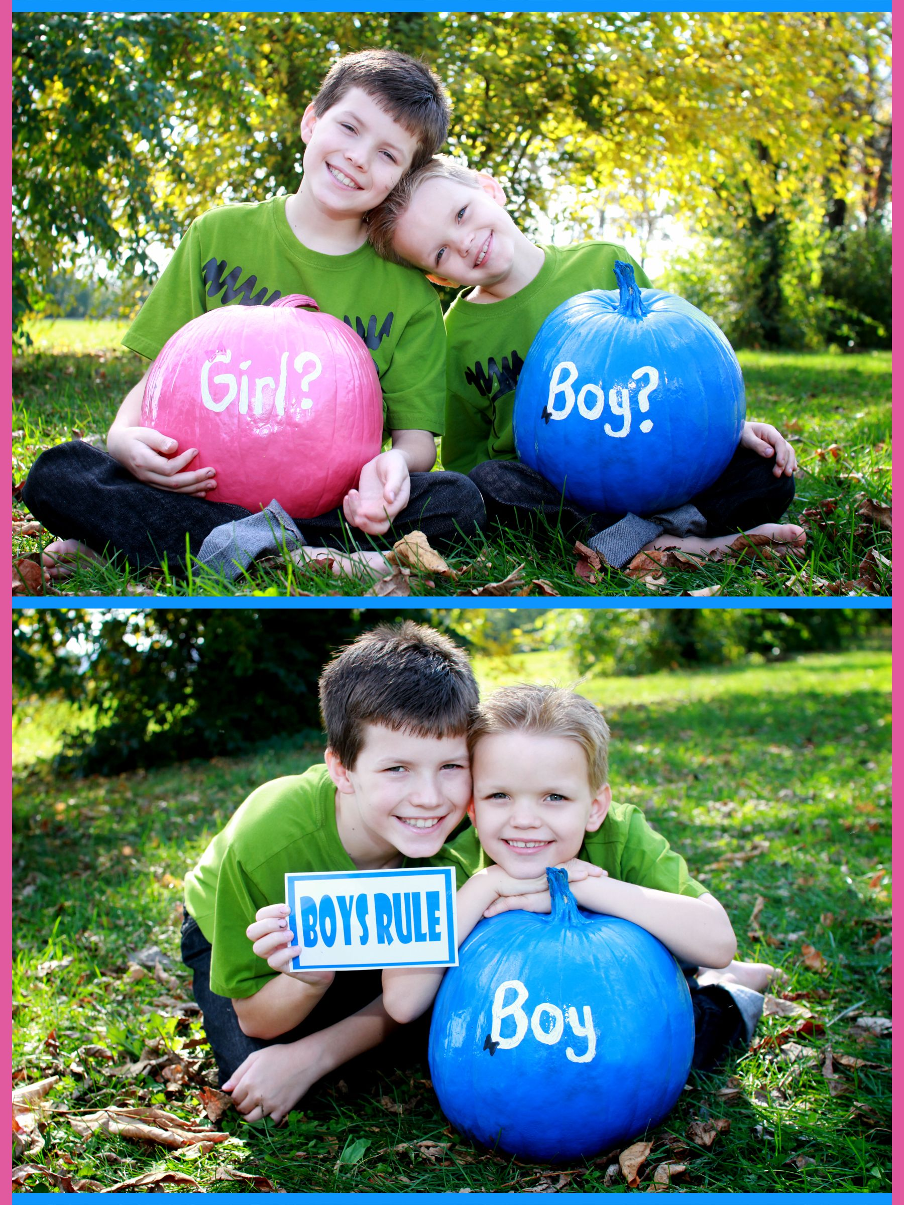 Gender Reveal idea using siblings | Gender Reveal Ideas ...