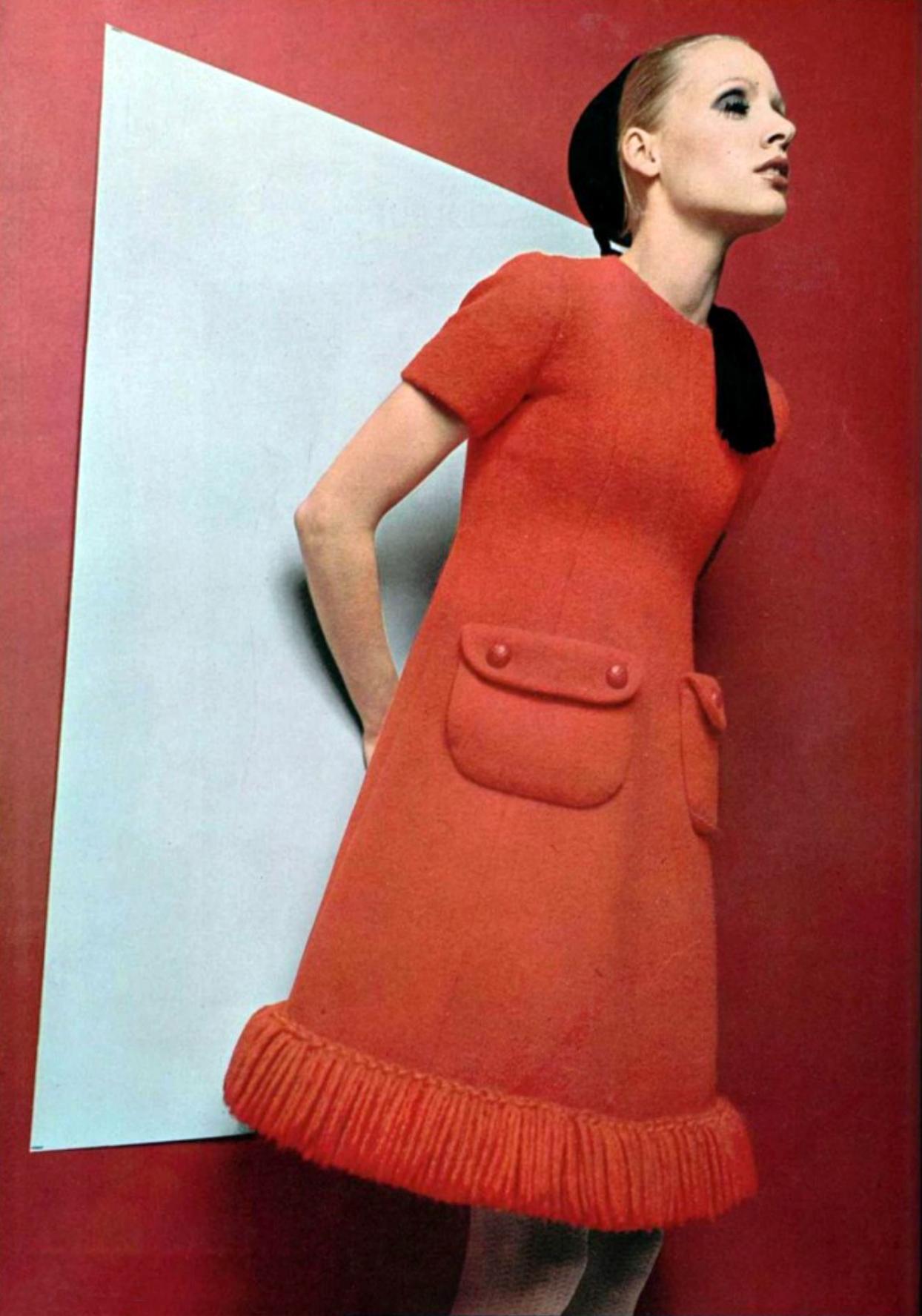 Luofficiel magazine vintage fashion style color photo print ad