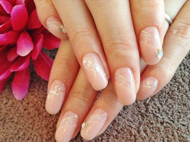 シェルWフレンチ 【Nail Salon Atelier Iris】 http://nail-beautynavi.woman.excite.co.jp/design/detail/31201?pint   ≪ #nail #nails #nailart #softgel  #ネイル #ナチュラルネイル #ベージュ #オフィスネイル ≫