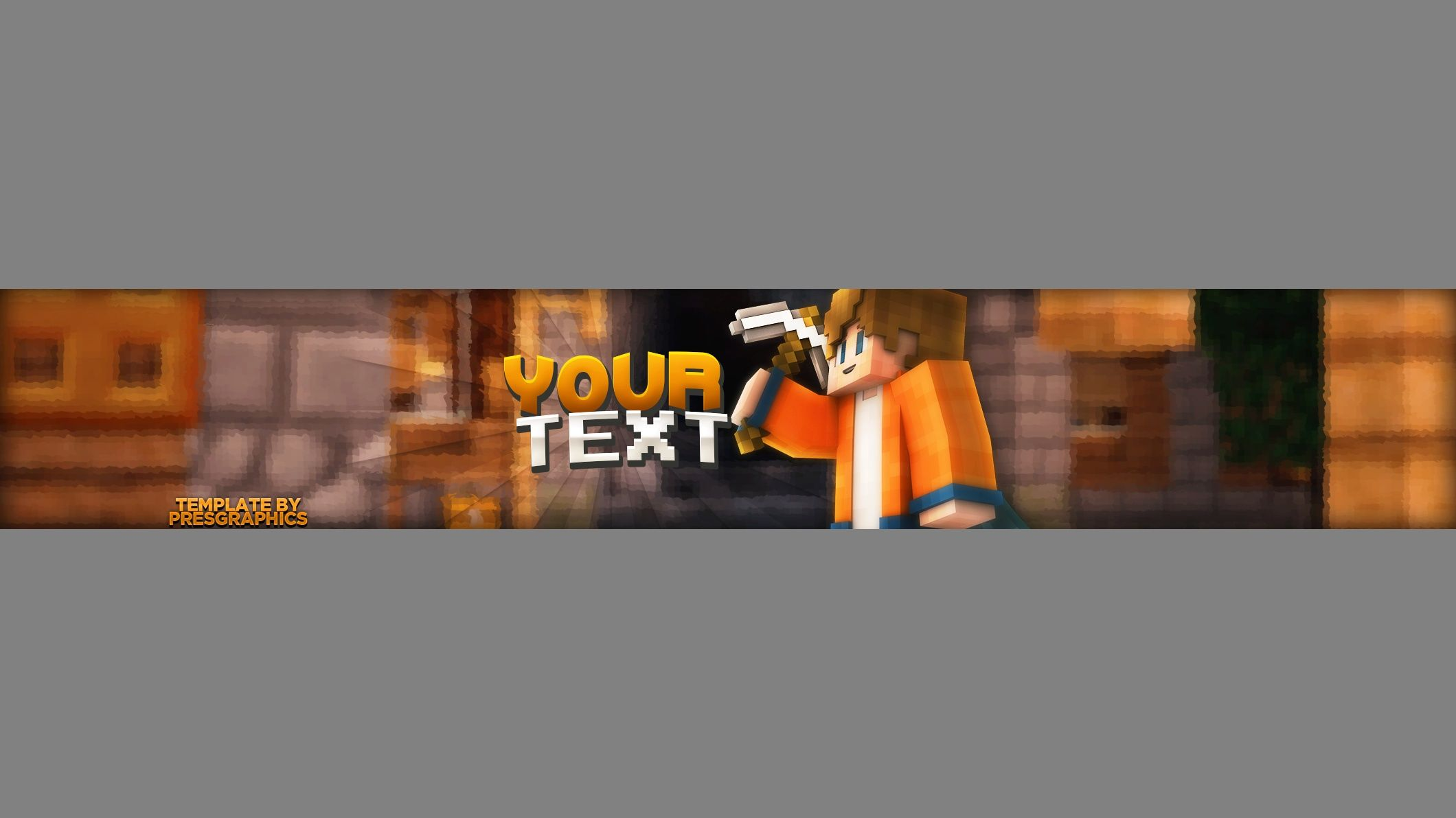 PresGraphics Minecraft YouTube Banner Template (Photoshop) | Stuff ...