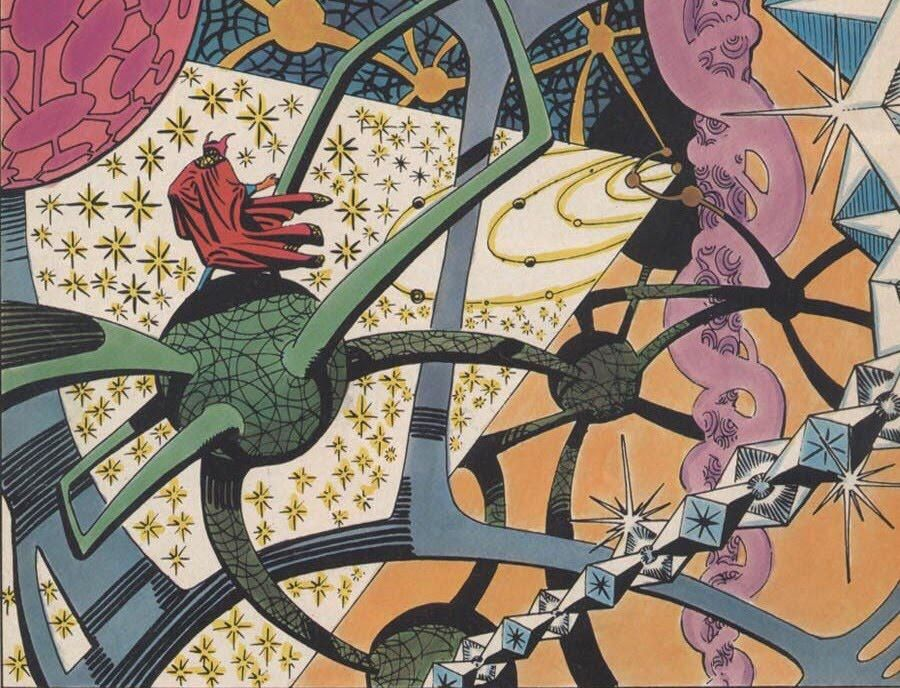Dr Strange in Steve Ditko's inimtable style
