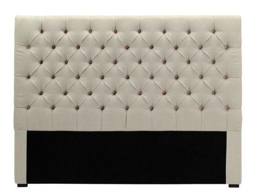Kopfteil Bett gepolstert Aurele Breite 162 cm
