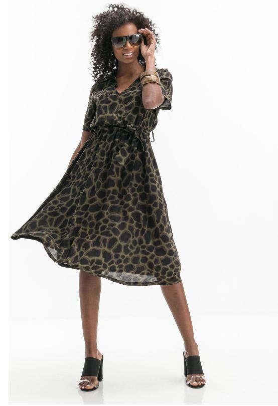 c5e9734b770f Υπέροχο midi φόρεμα απο την Anel Fashion σε άλφα γραμμή