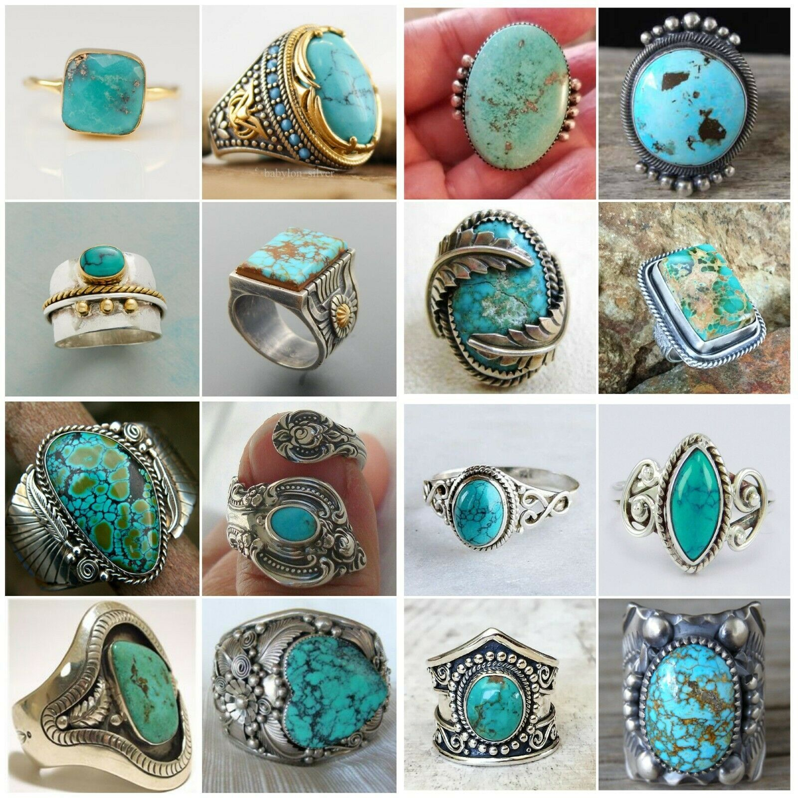 silver ring sterling silver ring jewelry gift men ring women ring Awesome Sterling Silver Turquoise Ring handmade jewelry