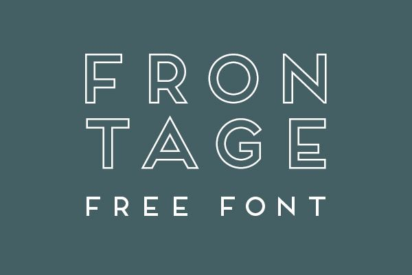 Free Font – Frontage Outline | This Board Doesn't Have a Name Yet