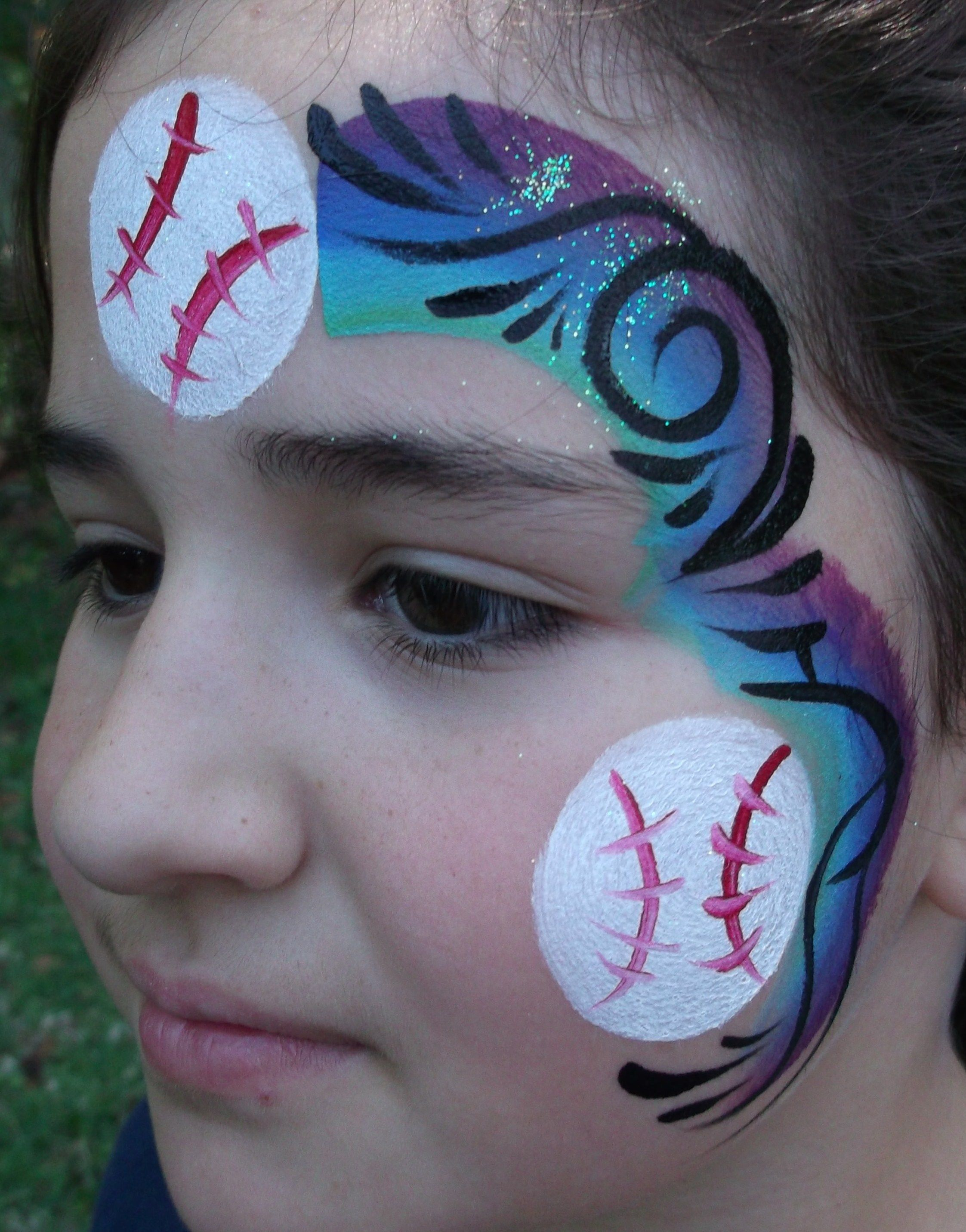 Amazing Face Painting By Linda Wix Com Face Painting Face Painting Halloween Face Painting Easy