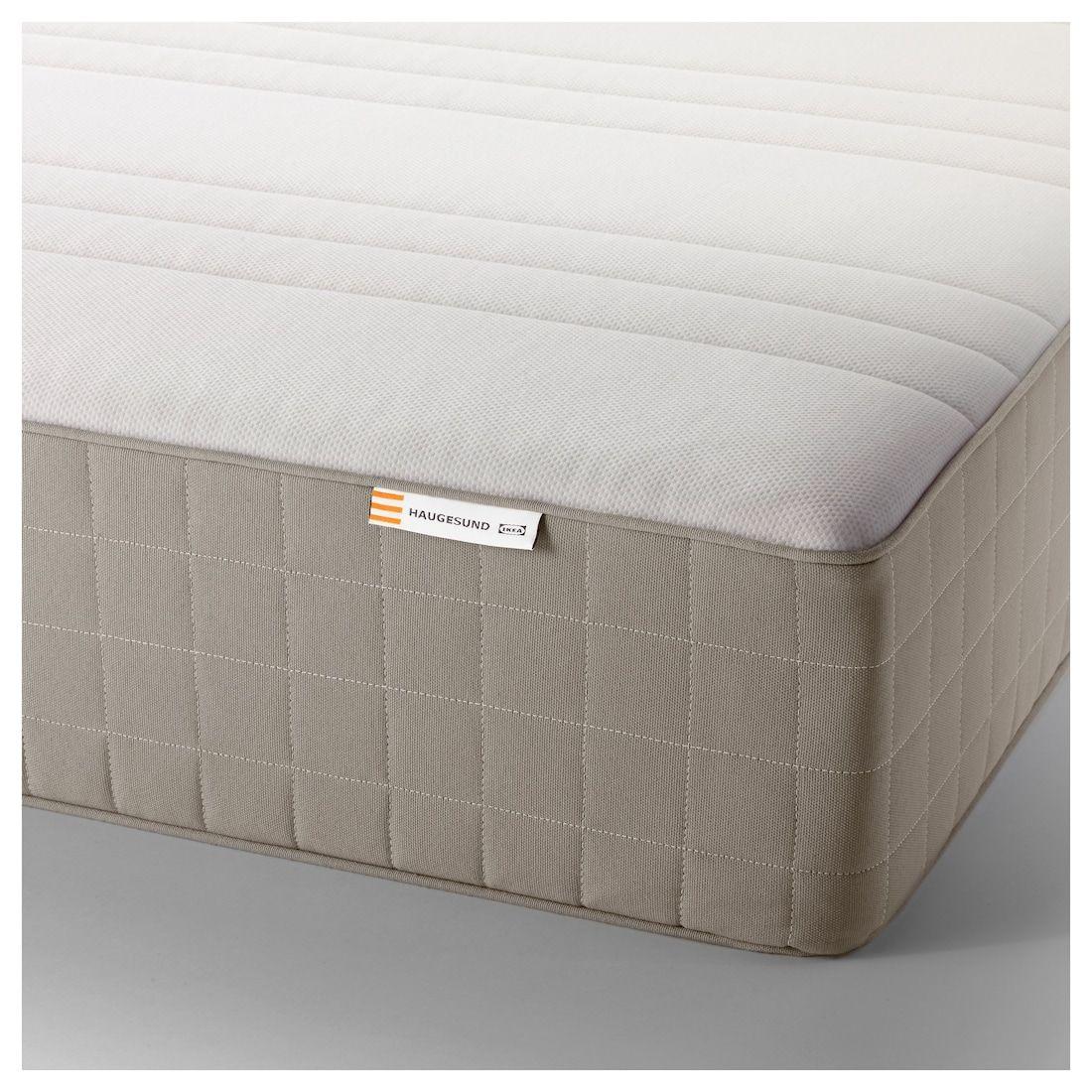 HAUGESUND Spring mattress, firm, dark beige, King IKEA