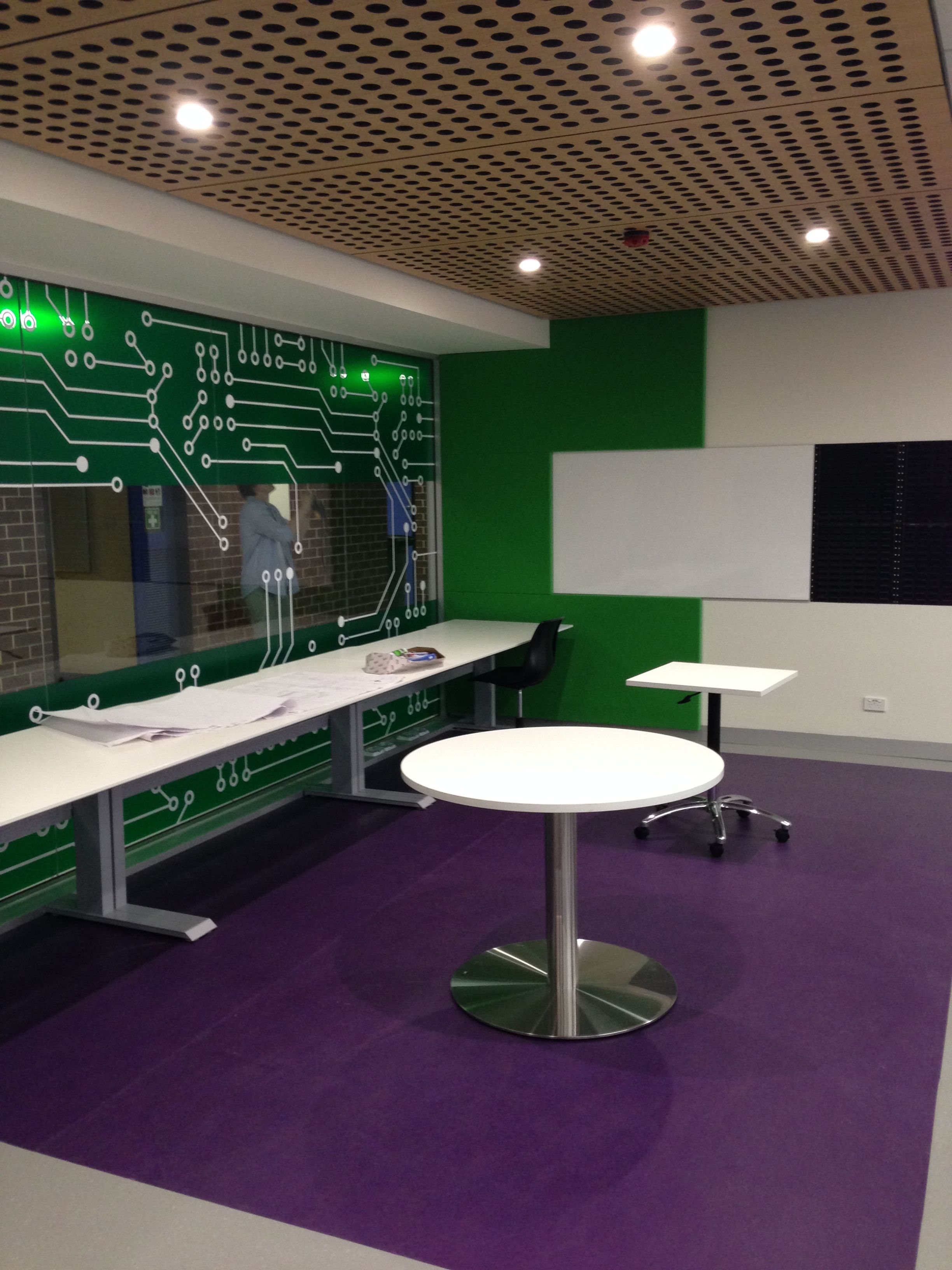 Uni SA Labs by Thomson Rossi Ceiling supplied by Keystone acoustics