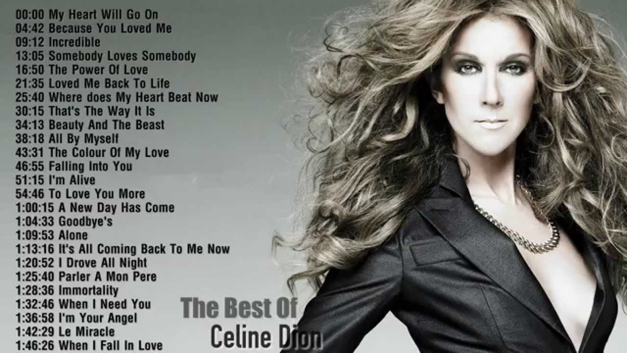 Celine Dion Best Songs Of Celine Dion Celine Dion S Greatest Hits Celine Dion Songs Celine Dion Greatest Hits Celine Dion Albums