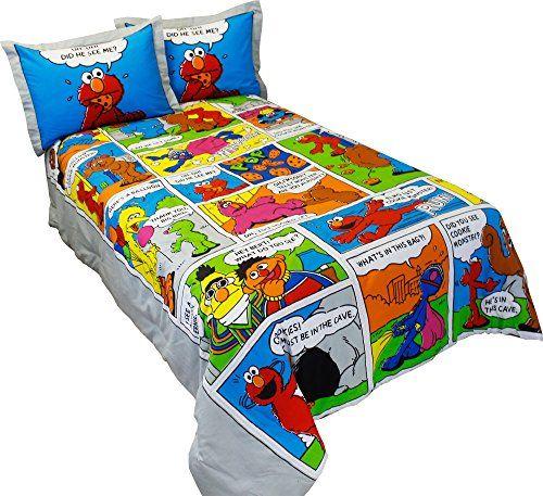 Sesame Street Comic Comforter In Full, Elmo Bedding Queen Size