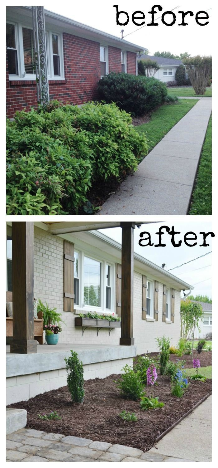 Lowe 39 s home exterior makeover reveal curb appeal change for Change exterior of house