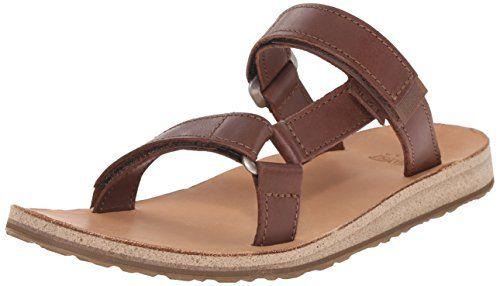 Teva Women's Universal Slide Leather Sandal, Brown, 6 M U