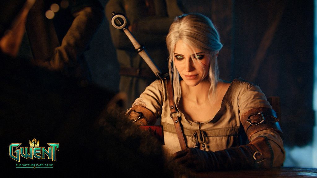 Ciri Video Game Gwent The Witcher Card Game Wallpaper With
