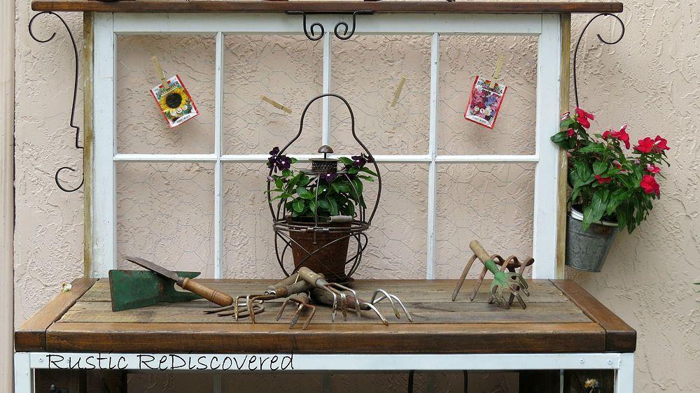 Vintage Tool Potting Bench
