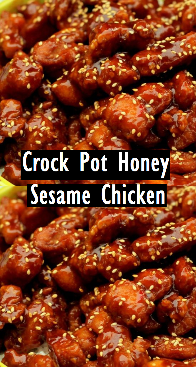 Crock Pot Honey Sesame Chicken - Easy Recipes #crockpotchickeneasy