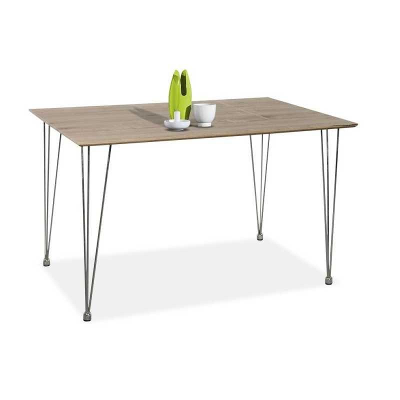 Mesa comedor económica modelo EKO color roble con patas ...